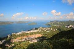Sito di Tai Po Tsai del progetto buliding della nuova casa del mondo Immagini Stock