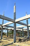 Sito e cielo blu di costruzione della costruzione Fotografie Stock Libere da Diritti