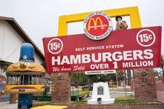 Sito e museo originali del ` s di McDonald immagine stock