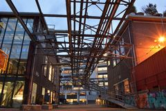 Sito industriale antico Fotografie Stock Libere da Diritti
