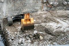 Sito pubblico della costruzione di strade Immagine Stock Libera da Diritti