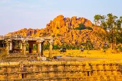 Sito storico di Hampi, India Fotografie Stock