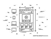 Sito Web adattabile Fotografia Stock