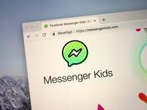 Sito Web del messaggero Kids fotografie stock libere da diritti