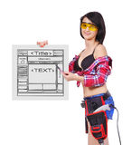 Sito Web del modello Fotografie Stock