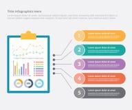 Sito Web dell'insegna del modello di finanza di affari o di rapporto finanziario o stampa infographic dell'opuscolo per la statis illustrazione di stock