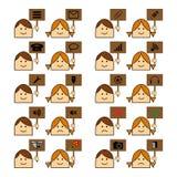 Sito Web delle icone Immagine Stock