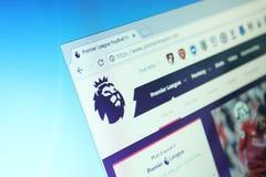 Sito Web inglese della Premier League immagine stock libera da diritti