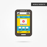 Sito Web mobile Immagini Stock