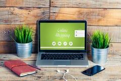 Sito Web online di acquisto Immagine Stock