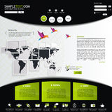 Sito Web verde di eco Immagine Stock