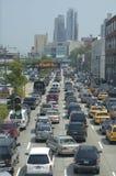 sitt fast trafik Arkivbilder