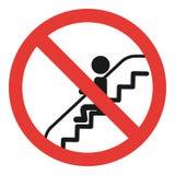 Sitt inte rulltrappasymbolen, enkel stil stock illustrationer