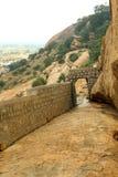 sittanavasal洞寺庙复合体耆那教的石床方式  免版税库存照片