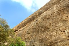 A hill surface with sky of sittanavasal cave temple complex. Sittanavasal is a small hamlet in Pudukkottai district of Tamil Nadu, India. It is known for the Stock Photos