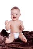 sittande barn för pojkestående royaltyfri fotografi