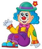 Sittande clowntemabild 1 Royaltyfri Fotografi