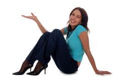 sittande kvinna royaltyfria bilder