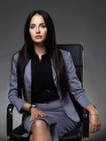 sittande kvinna för affärsstol Royaltyfri Fotografi