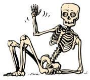 sittande skelett royaltyfri illustrationer