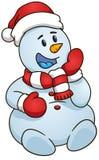 sittande snowman också vektor för coreldrawillustration som bakgrund är kan det använda julillustrationtemat Arkivbild