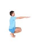 sittande yoga för man Royaltyfri Bild