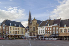Sittard-Geleen, Netherlands. View of Sittard market square with historic houses, Netherlands Stock Photos