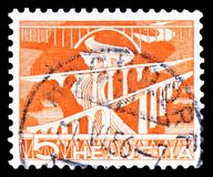 Sitter Bridges near Saint Gallen, Landscapes and technics serie, circa 1949. MOSCOW, RUSSIA - FEBRUARY 10, 2019: A stamp printed in Switzerland shows Sitter royalty free stock photography