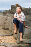 Sittig on the rocks Stock Photography