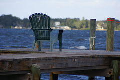 Sittin on the dock Royalty Free Stock Photography