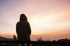 Sitting alone Stock Image