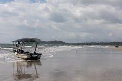 Boat. Playa Samara Beach. Costa Rica royalty free stock images