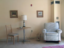Sitting area. In asisted living apartment, muted tones Stock Images
