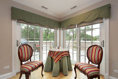 Sitting area with balcony view Royalty Free Stock Photo