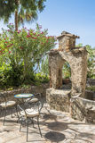 Sitting area in a garden, Taormina, Sicily Stock Photography