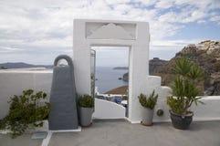 Sitting area, resort in Greece Stock Photo