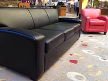 Sitting area. In shopping mall stock photo