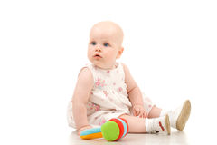 Sitting baby Royalty Free Stock Photo
