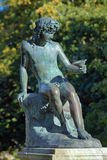 Sitting Bacchus near the Rosendal Palace in Stockholm, Sweden Stock Photos