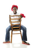 Sitting Backwards Stock Photography