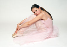 Sitting ballerina Royalty Free Stock Photo