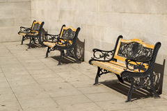 Sitting banks in a row Royalty Free Stock Images