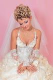 Sitting beauty bride Royalty Free Stock Photos