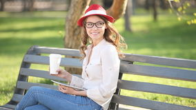Sitting on the bench. Stock Photo