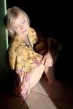 Sitting Blonde Stock Image