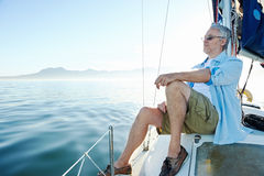Sitting on boat man Royalty Free Stock Photo