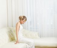 Sitting Bride Stock Image