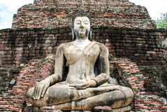 Sitting Budda image. The sitting Buddha image in Wat Mahatat, This temple is situated in the heart of the city, is most important temple as the principle temple Stock Images