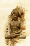 Sitting Buddha against grunge background Royalty Free Stock Photography