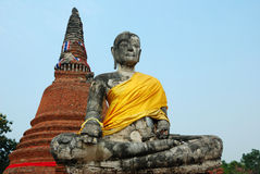 Sitting buddha,ayuttayah, thailand royalty free stock images